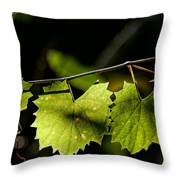 Wild Grape Leaves Throw Pillow by Christopher Holmes