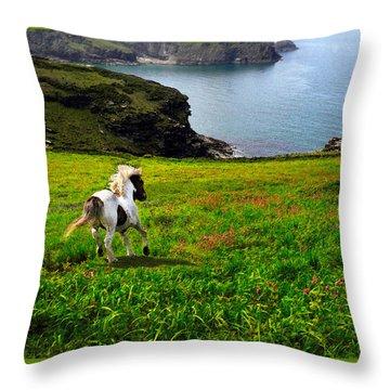 Wild Little Pony Throw Pillow by Vicki Lea Eggen