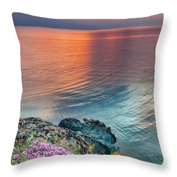 Wild Thyme By The Sea Throw Pillow by Evgeni Dinev