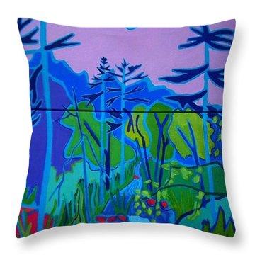 Wildcat River Jackson Nh Throw Pillow by Debra Bretton Robinson
