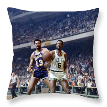 Wilt Chamberlain (1936-1999) Throw Pillow by Granger