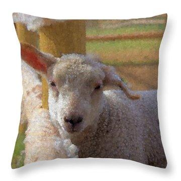 Windy Ear Throw Pillow by Kathy Bassett