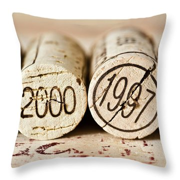 Throw Pillow featuring the photograph Wine Corks by Frank Tschakert
