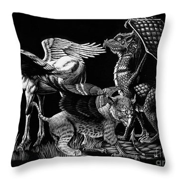 Winged Hatchlings Throw Pillow by Stanley Morrison