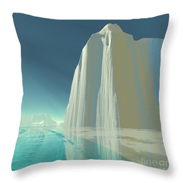 Winter Crystal Throw Pillow by Corey Ford