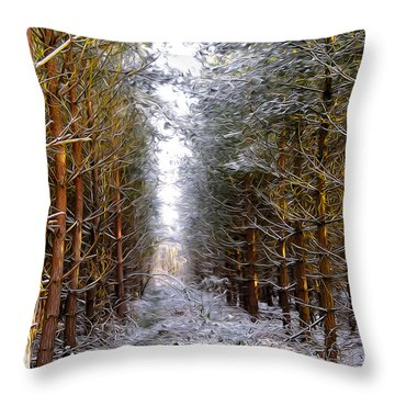 Winter Forest Throw Pillow by Svetlana Sewell