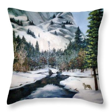 Winter Half Dome Throw Pillow by Beverly Johnson