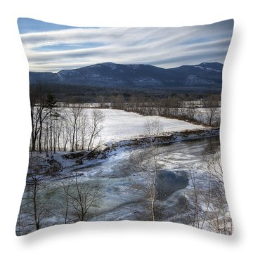 Winter In North Conway Throw Pillow by Eric Gendron