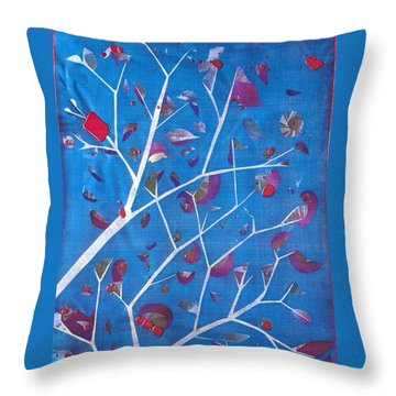 Winter Tree Throw Pillow by Rick Silas