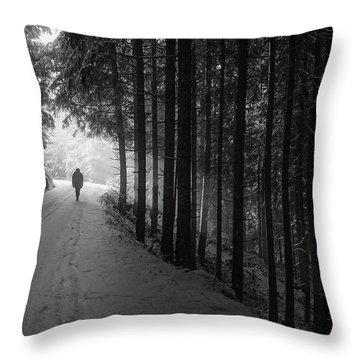 Winter Walk - Austria Throw Pillow by Mountain Dreams