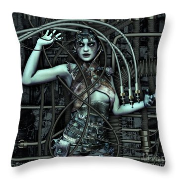 Wired Throw Pillow by Jutta Maria Pusl
