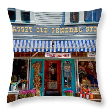 Wiscasset General Throw Pillow by Susan Cole Kelly