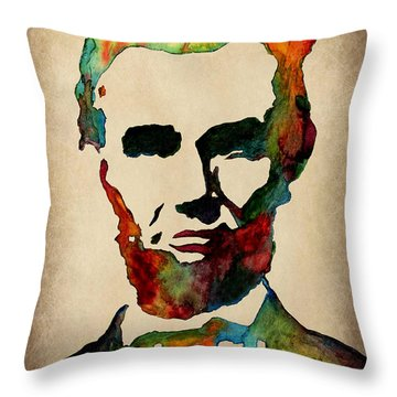 Wise Abraham Lincoln Quote Throw Pillow by Georgeta  Blanaru