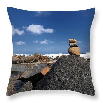 Wishing Rocks Aruba Throw Pillow by Amy Cicconi