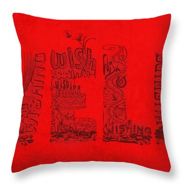 Wishing Well Throw Pillow by Laura Brightwood