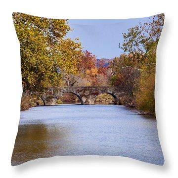 Wissahickon Autumn Throw Pillow by Bill Cannon