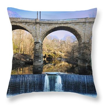 Wissahickon Viaduct Throw Pillow by Bill Cannon