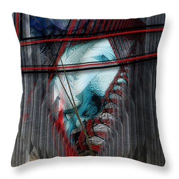 Witches' Cradle Throw Pillow by Mimulux patricia no
