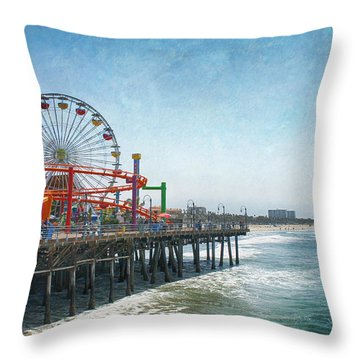 With A Smile On My Face Throw Pillow by Laurie Search
