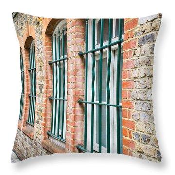 Wndow Bars Throw Pillow by Tom Gowanlock