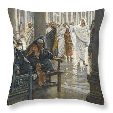 Woe Unto You Throw Pillow by Tissot