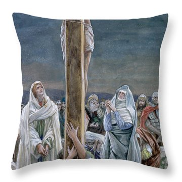 Woman Behold Thy Son Throw Pillow by Tissot