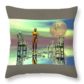 Women Waiting For The Perfect Man Throw Pillow by Claude McCoy
