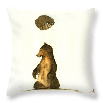 Woodland Letter I Throw Pillow by Juan  Bosco