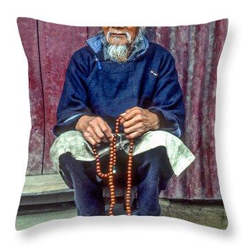 Working Hands Throw Pillow by Steve Harrington
