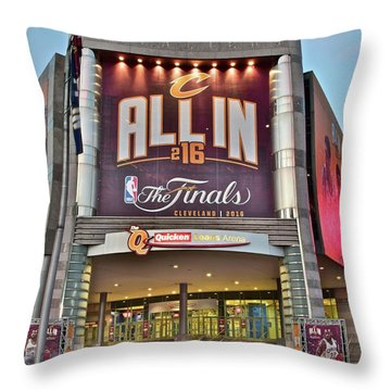 World Champion Cleveland Cavaliers Throw Pillow by Frozen in Time Fine Art Photography