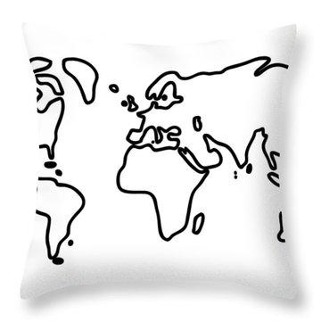 World Globe Throw Pillow by Lineamentum