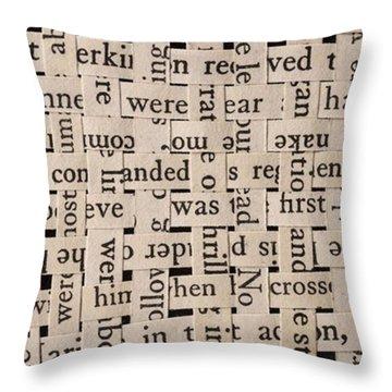Woven Words By Edward M. Fielding - Throw Pillow by Edward Fielding