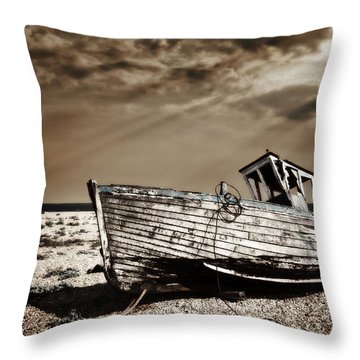 Wrecked Throw Pillow by Meirion Matthias