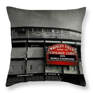 Wrigley Field Throw Pillow by Stephen Stookey