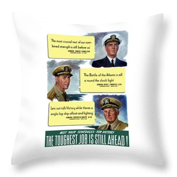 Ww2 Us Navy Admirals Throw Pillow by War Is Hell Store