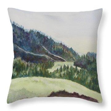 Wyoming Glow Throw Pillow by Jenny Armitage