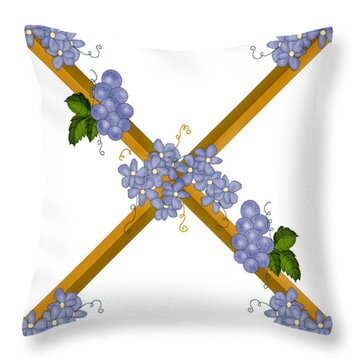 X Is For Ten Throw Pillow by Anne Norskog