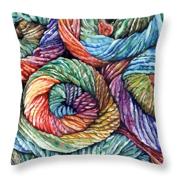 Yarn Throw Pillow by Nadi Spencer
