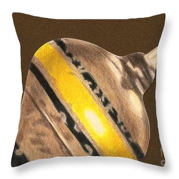 Yellow And Black Top Throw Pillow by Glenda Zuckerman