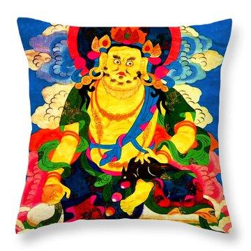 Yellow Jambhala 4 Throw Pillow by Lanjee Chee