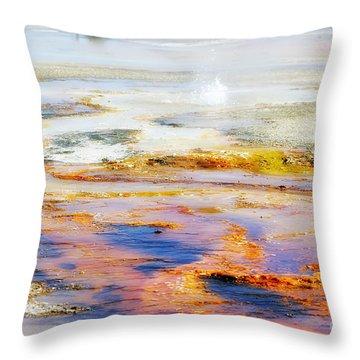 Yellowstone Abstract II Throw Pillow by Teresa Zieba