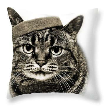 Yes I Am Wearing A Headband Throw Pillow by Andee Design