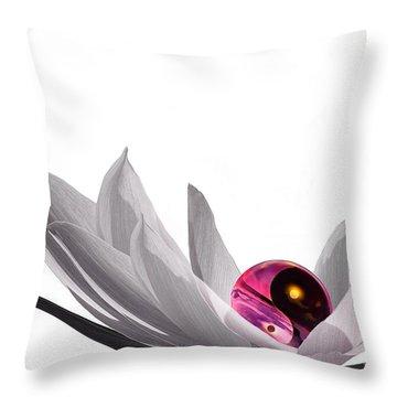 Yin Yang Throw Pillow by Jacky Gerritsen