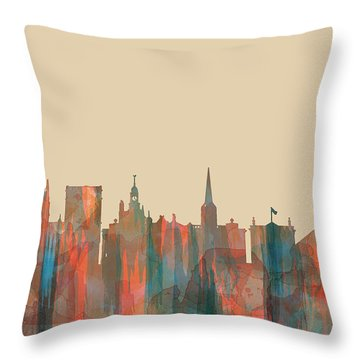 York England  Skyline Throw Pillow by Marlene Watson