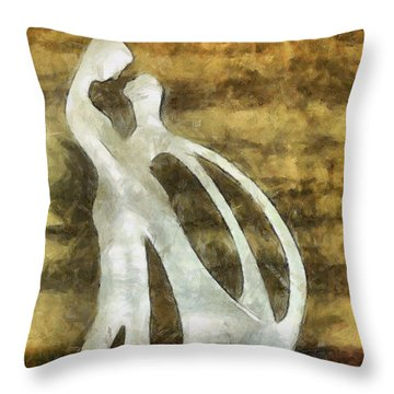 You And I 1 Throw Pillow by Angelina Vick
