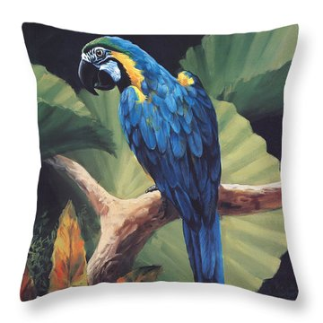 You Don't Say Throw Pillow by Laurie Hein