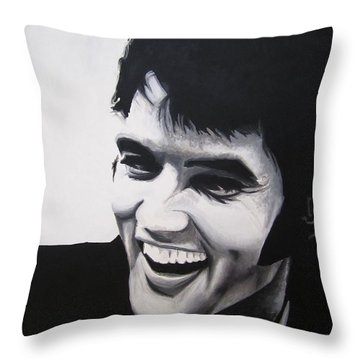 Young Elvis Throw Pillow by Ashley Price