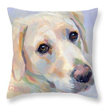 Young Man Throw Pillow by Kimberly Santini