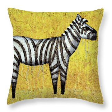 Zebra Throw Pillow by Kelly Jade King