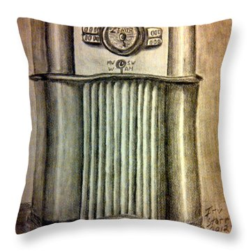 Zenith Radio Throw Pillow by Irving Starr